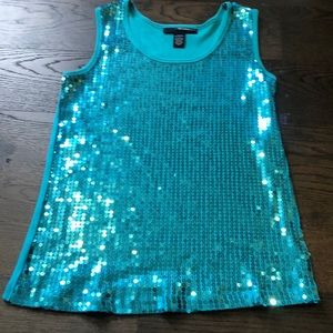 Blue sparkly tank top! Summer pool fun